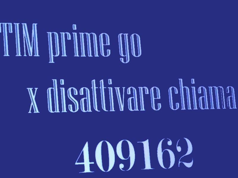 Prime Go Tim E I Servizi Mai Richiesti
